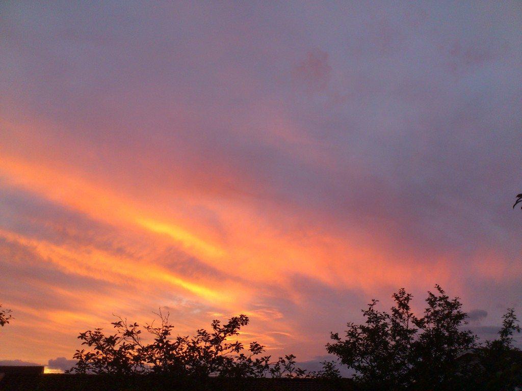 Underbart vacker solnedgång